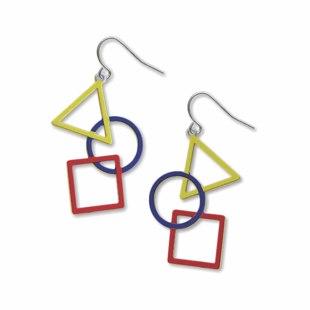 triangle,-circle-&-square-giclee-print-earrings-photo