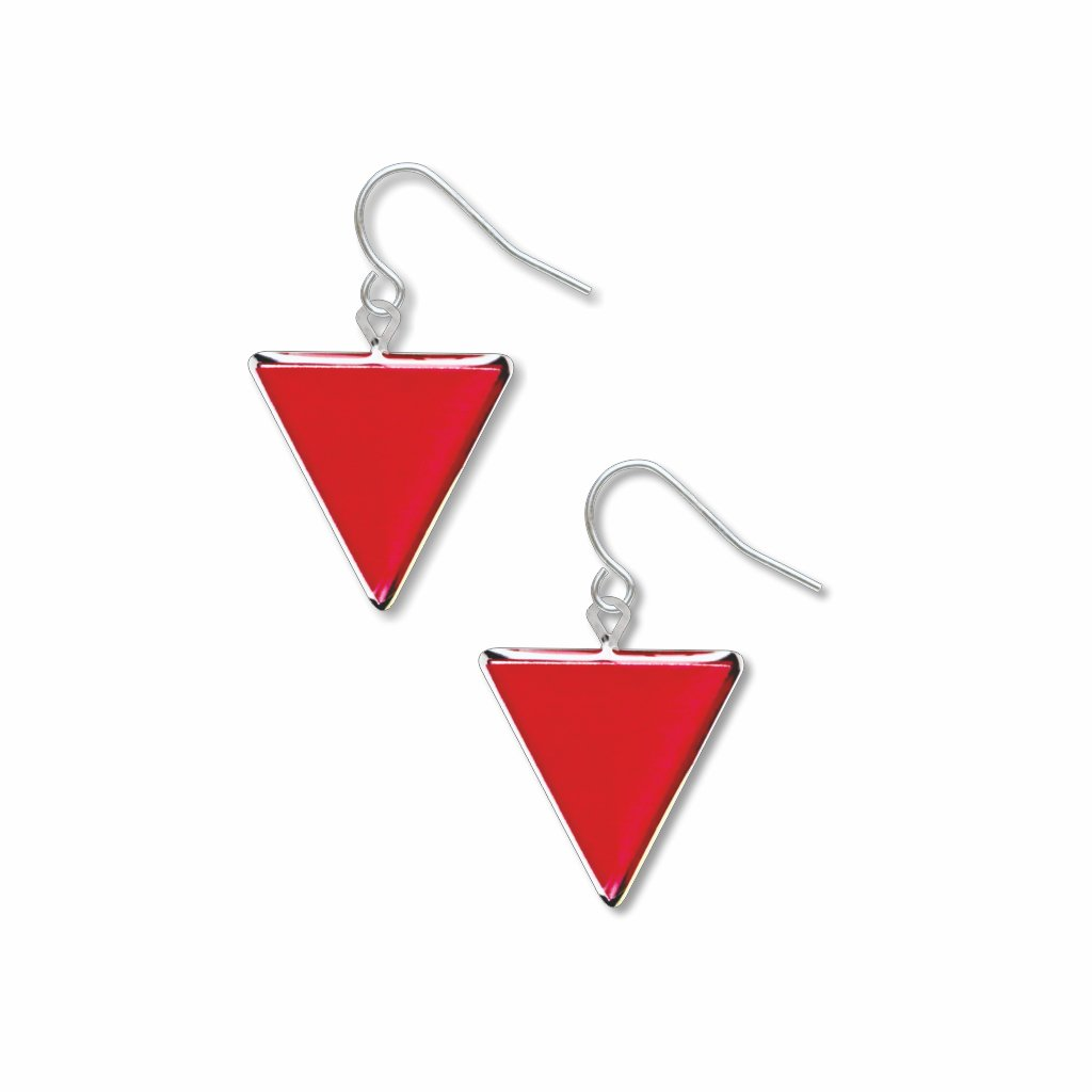 red-triangle-giclee-print-domed-earrings-photo