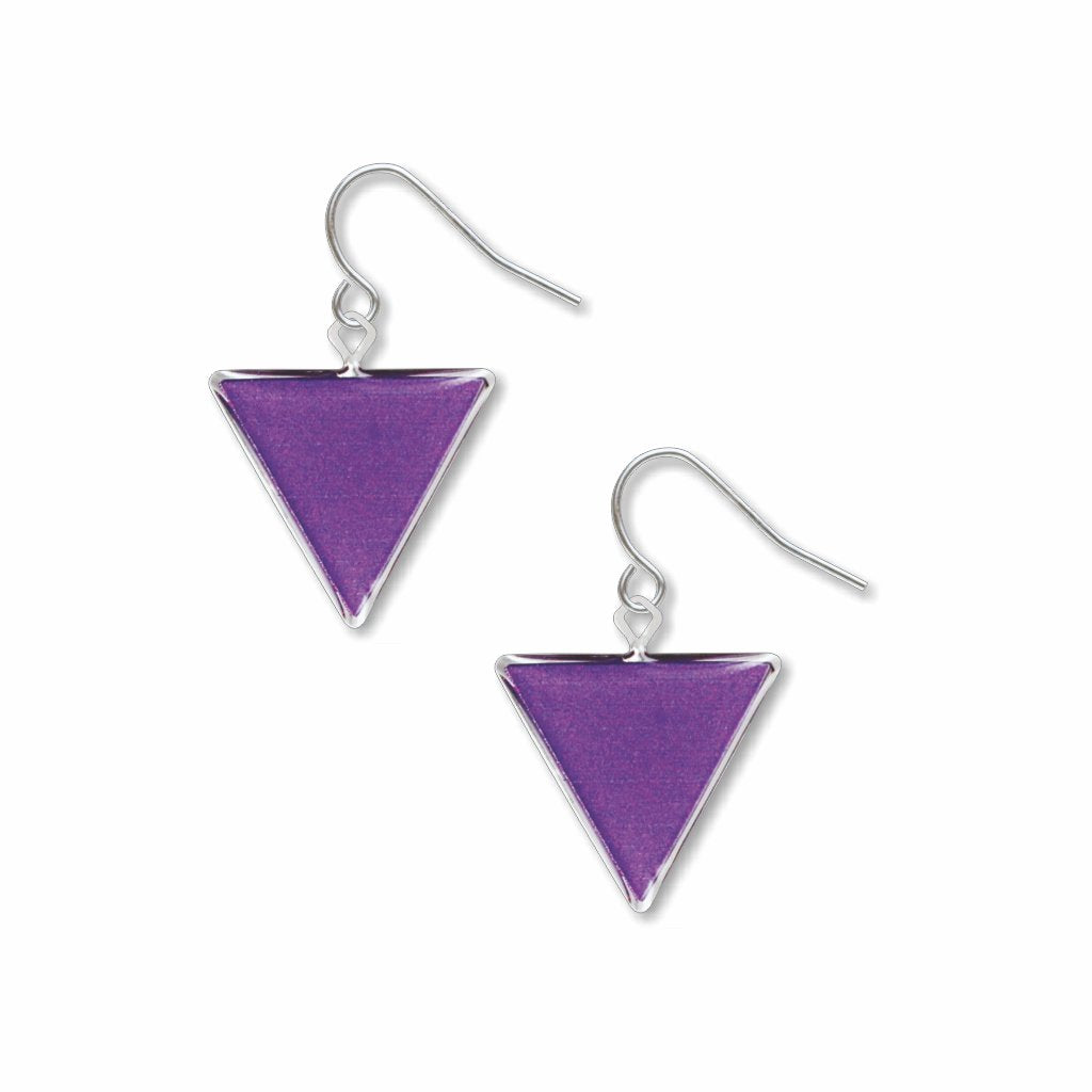purple-triangle-giclee-print-domed-earrings-photo