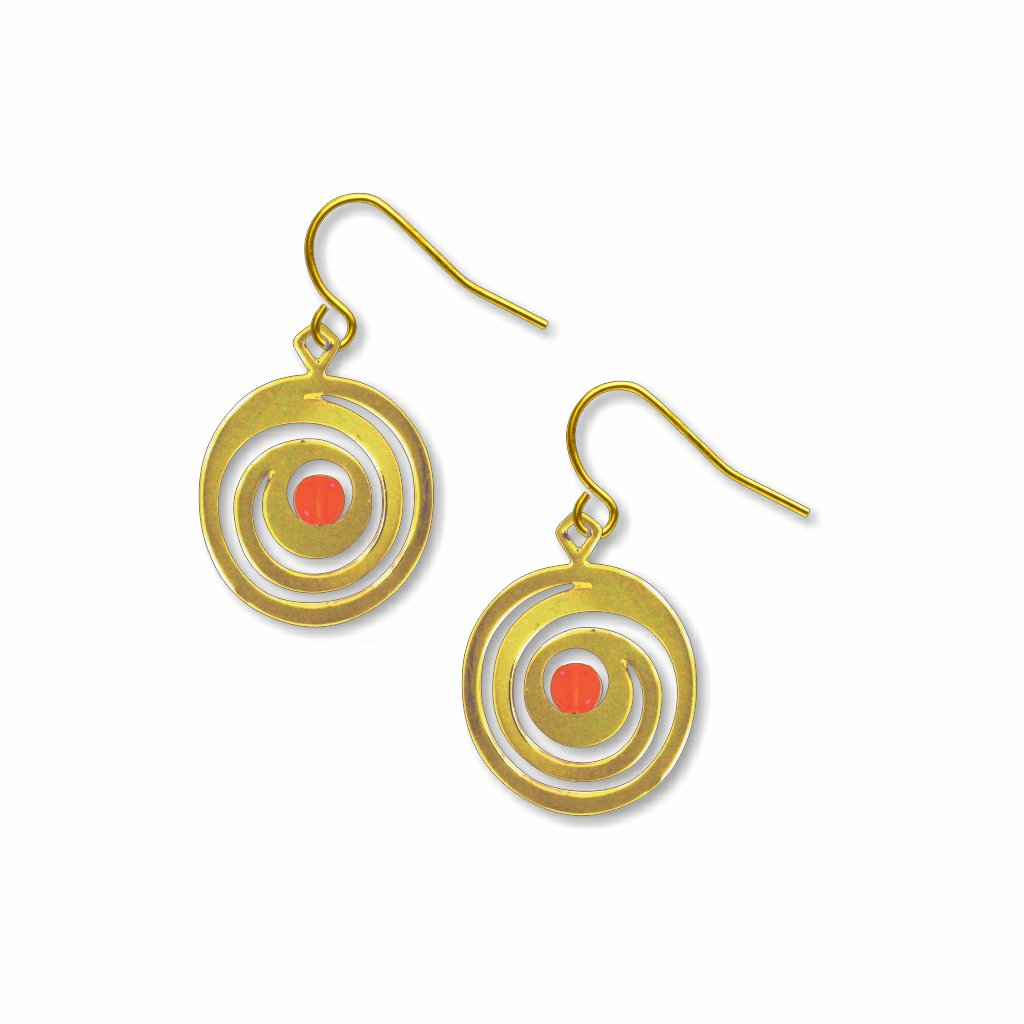 the-kiss-spirals-orange-bead-earrings-photo