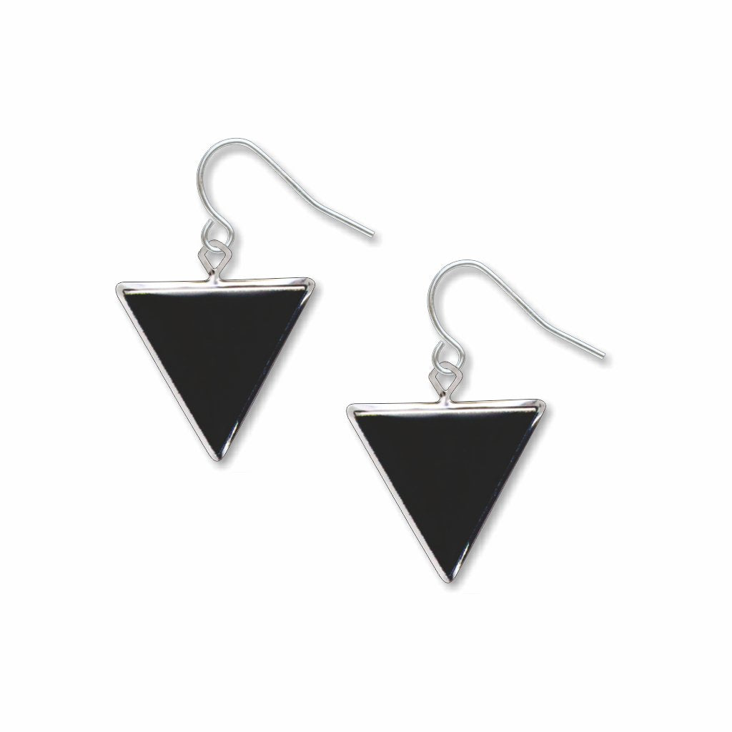 black-triangle-giclee-print-domed-earrings-photo