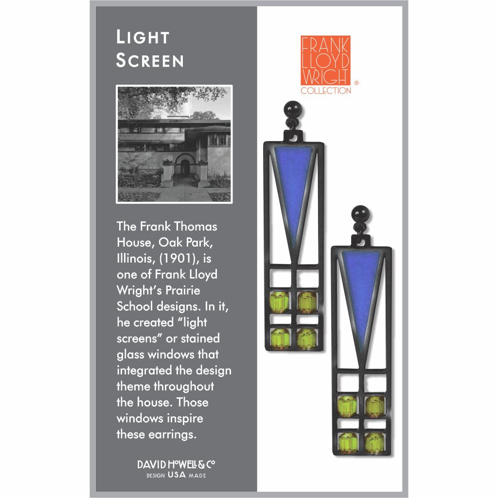 frank-lloyd-wright-light-screen-green-bead-blue-enamel-earrings-photo-2