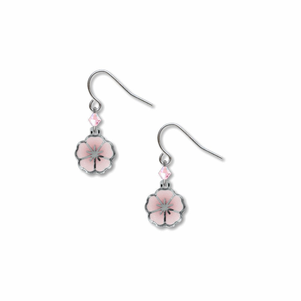 garden-cherry-blossoms-pink-bead-giclee-print-domed-earrings-photo