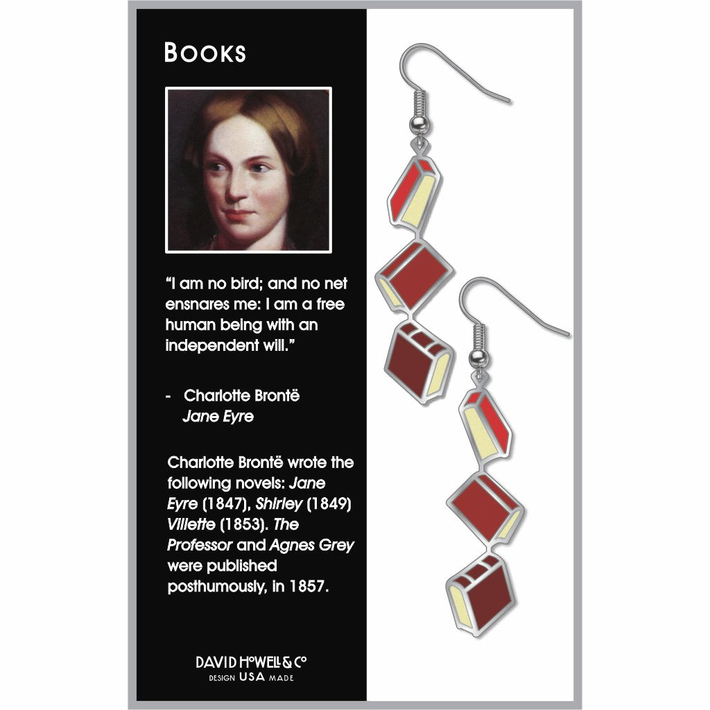 books-red-accents-earrings-photo-2