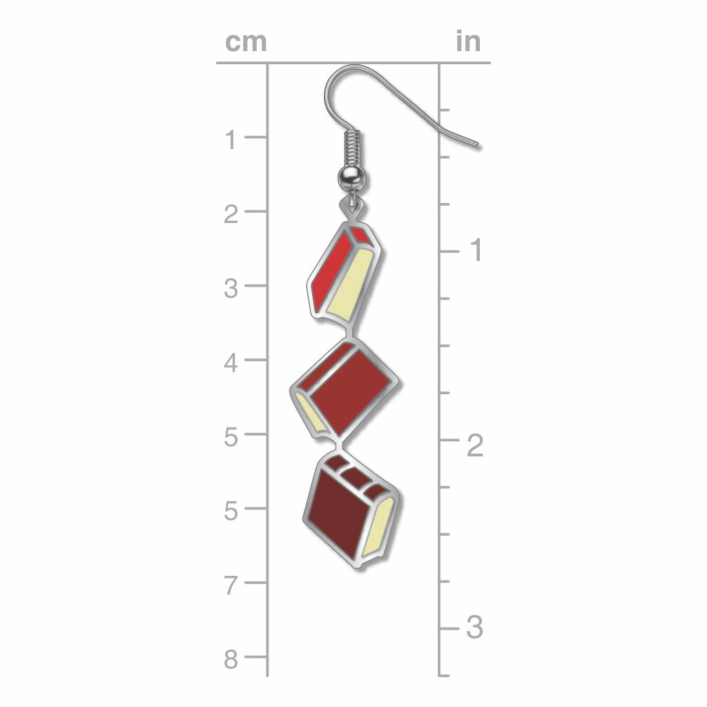 books-red-accents-earrings-photo-3