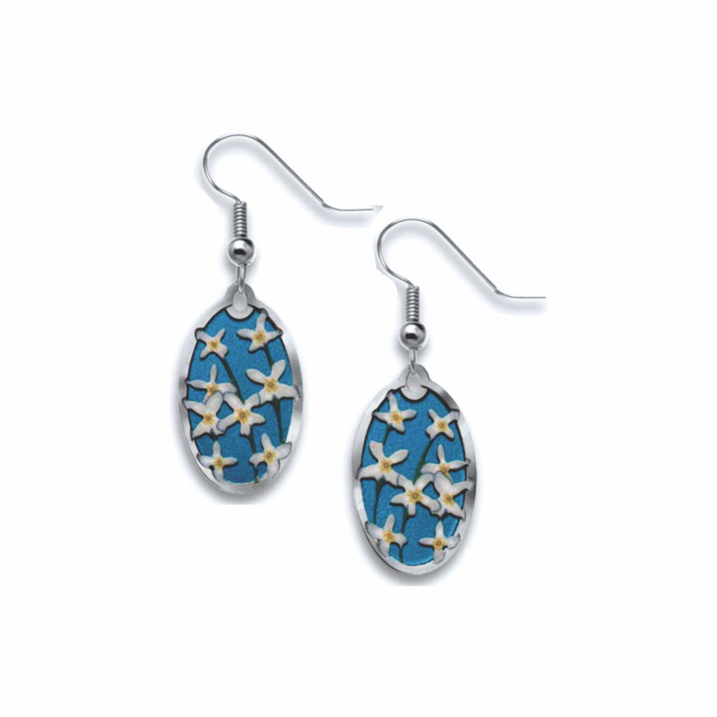 bluets-giclee-print-royal-blue-accent-earrings-photo