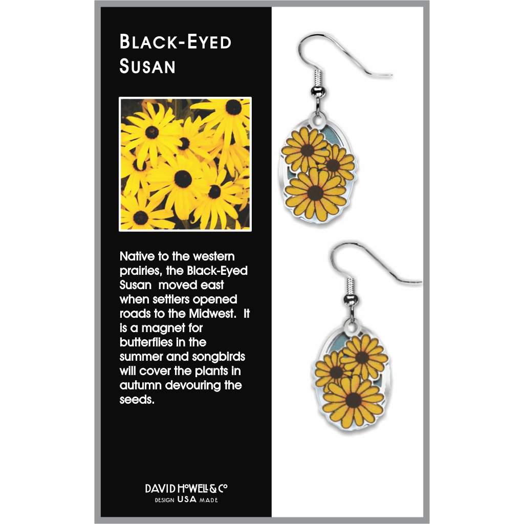 black-eyed-susan--giclee-print-light-blue-accent-earrings-photo-2