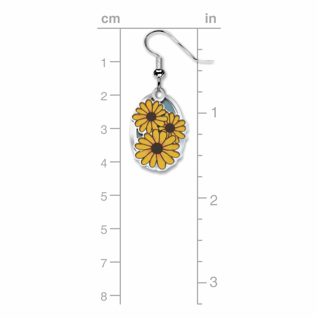 black-eyed-susan--giclee-print-light-blue-accent-earrings-photo-3