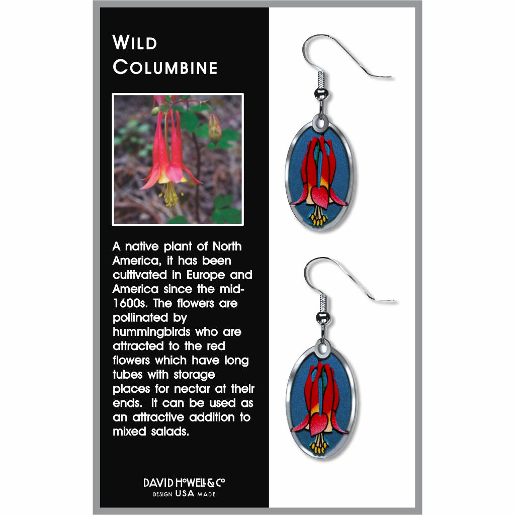 wild-columbine-giclee-print-twilight-blue-accent-earrings-photo-2