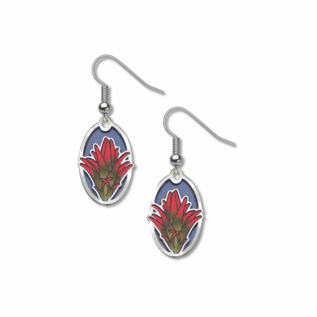 indian-paintbrush-giclee-print-royal-blue-accent-earrings-photo