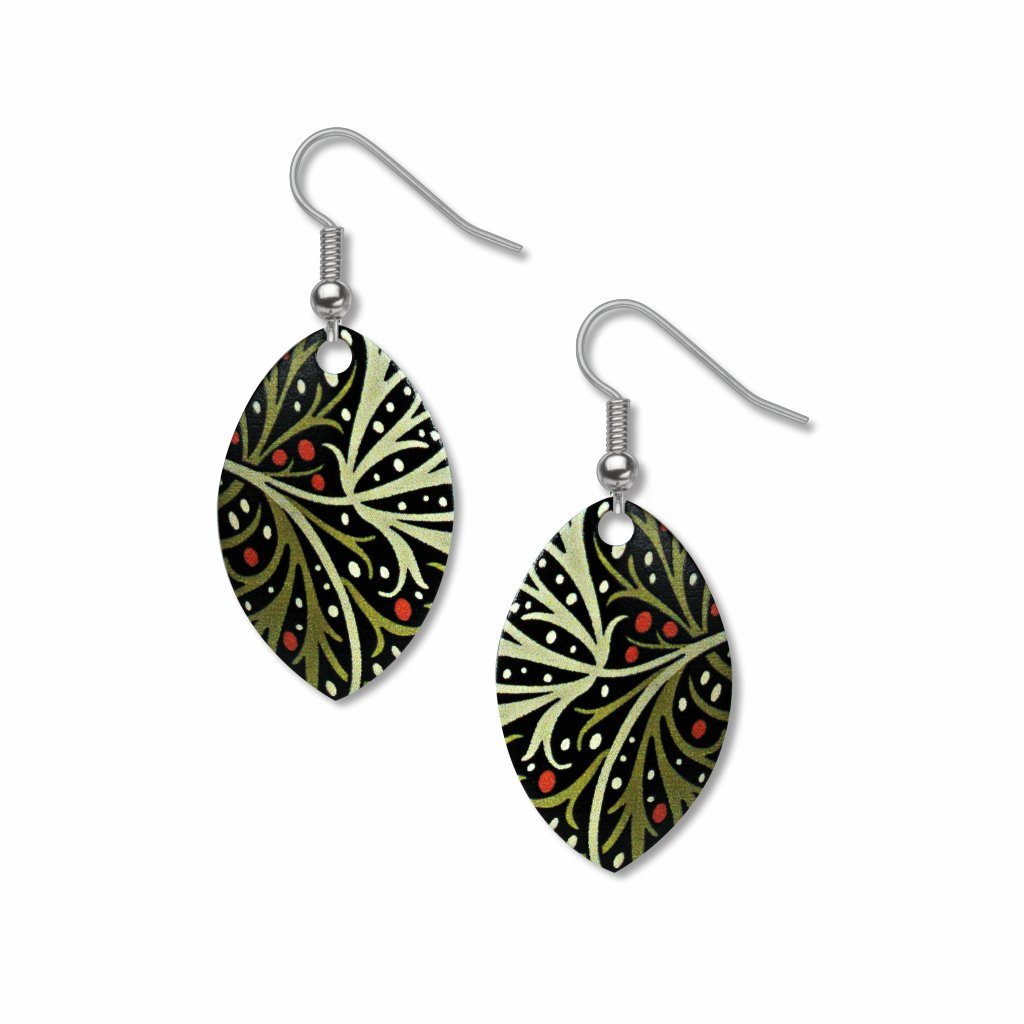 william-morris-seaweed-giclee-print-earrings-photo