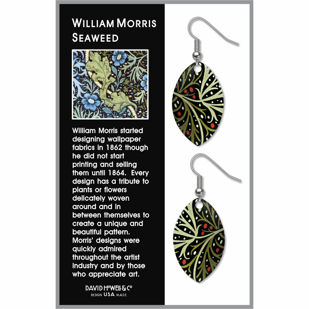 william-morris-seaweed-giclee-print-earrings-photo-2