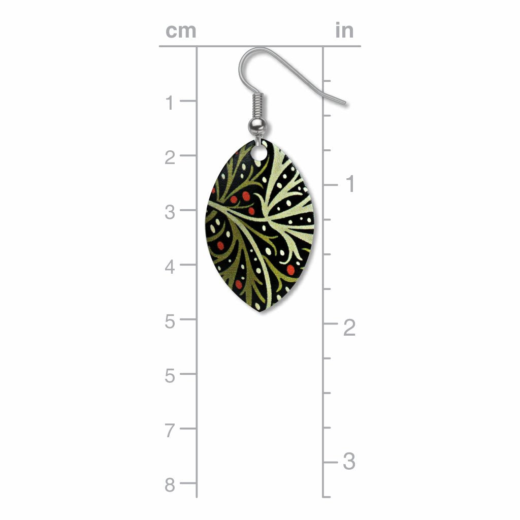 william-morris-seaweed-giclee-print-earrings-photo-3