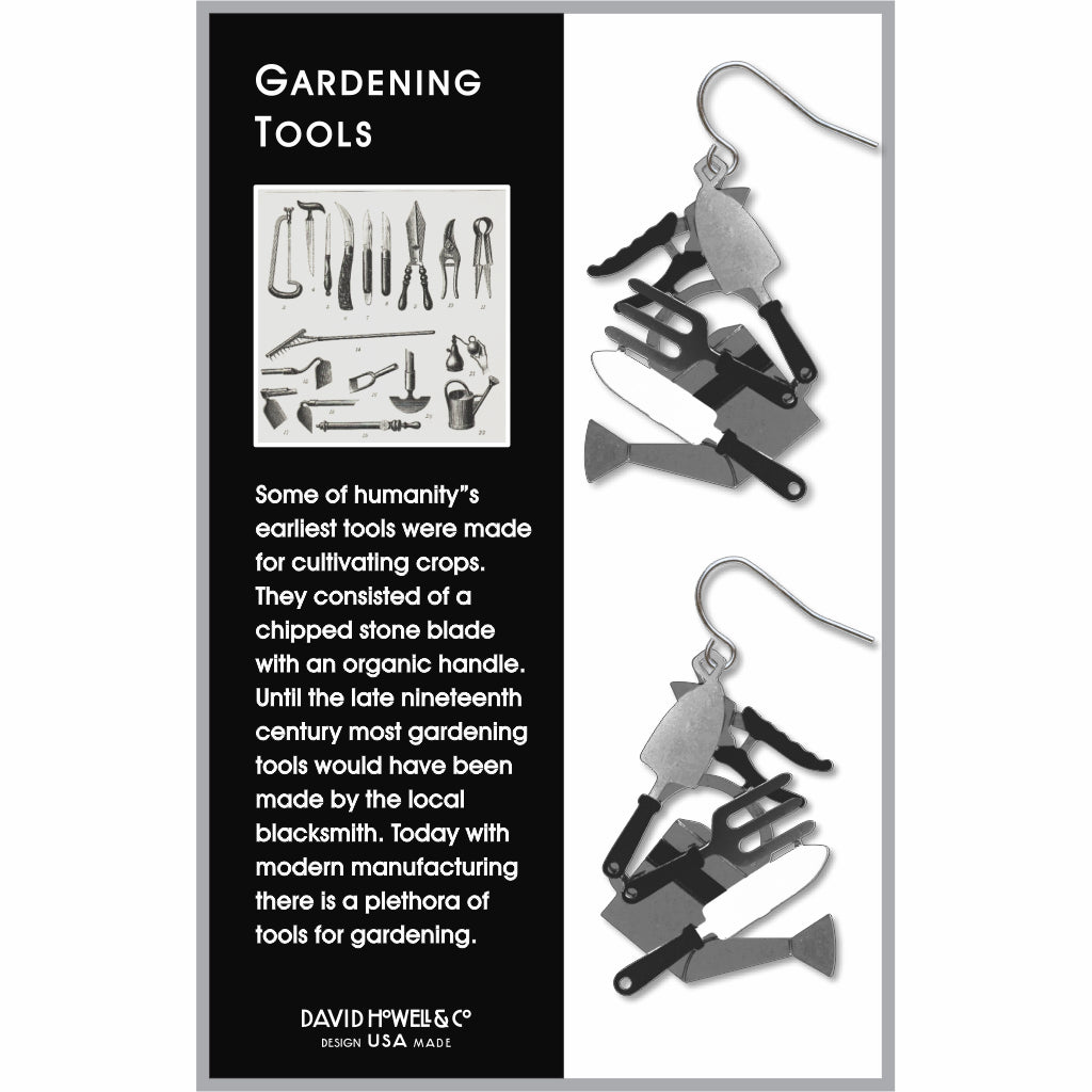 gardening-tools-black-accents-giclee-print-earrings-photo-2