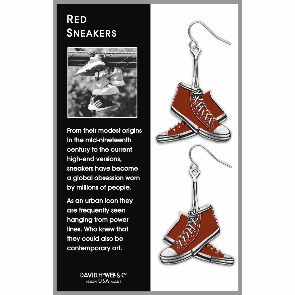 red-sneakers-giclee-print-earrings-photo-2
