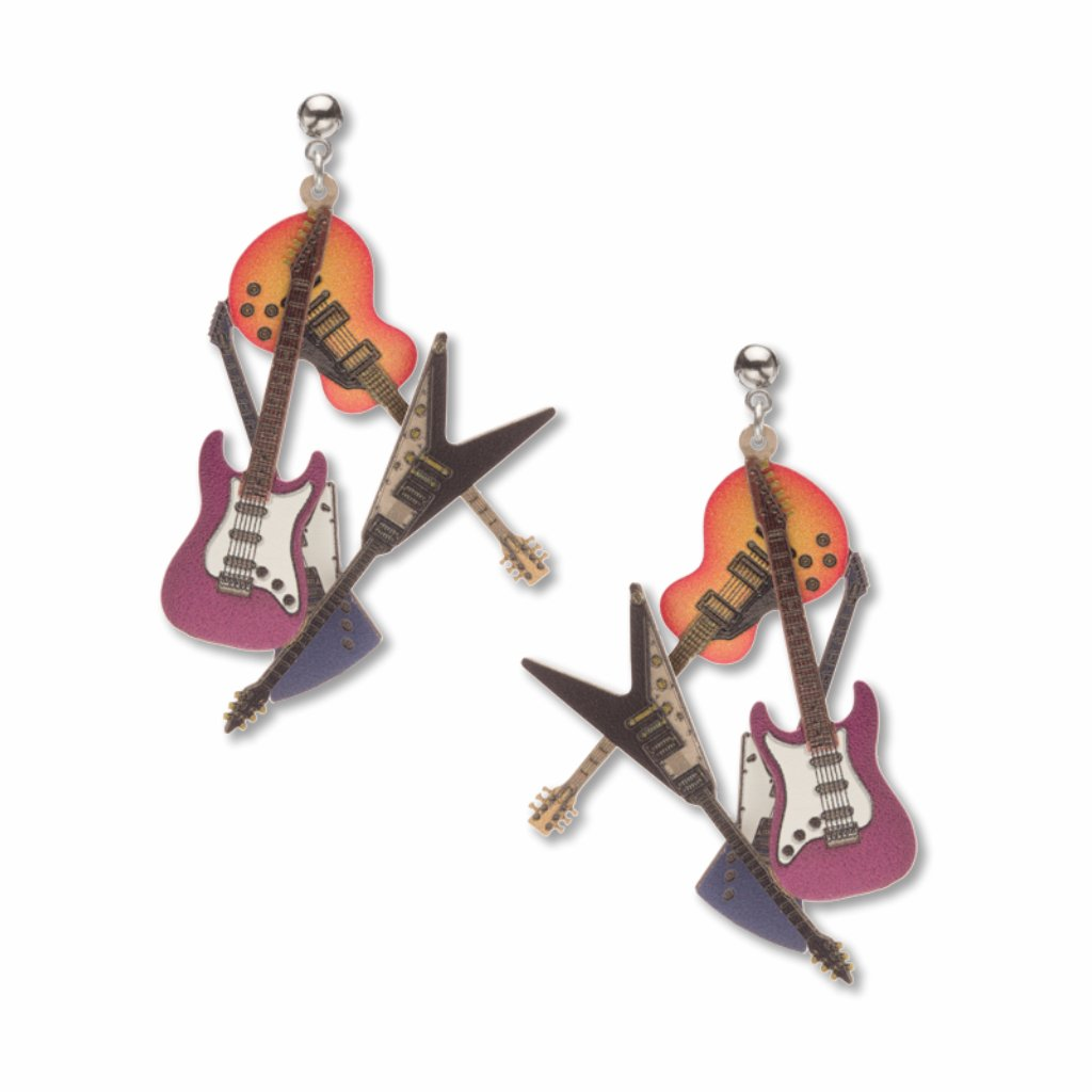 guitars-giclee-print-earrings-photo
