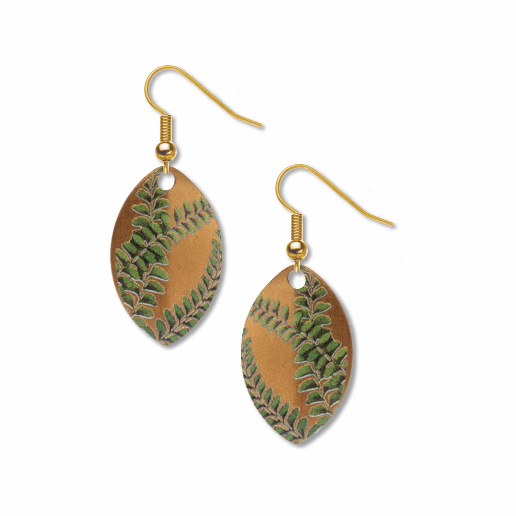 gold-fern-giclee-print-faux-gilt-earrings-photo