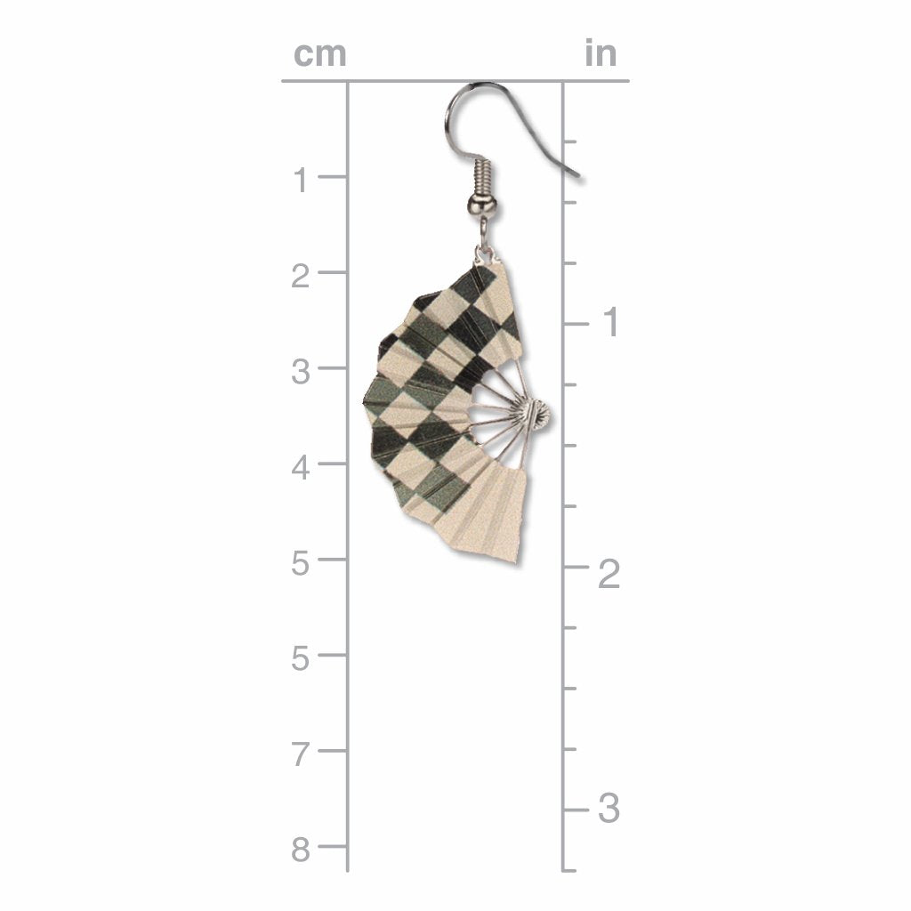 checkered-fans-giclee-print-earrings-photo-3