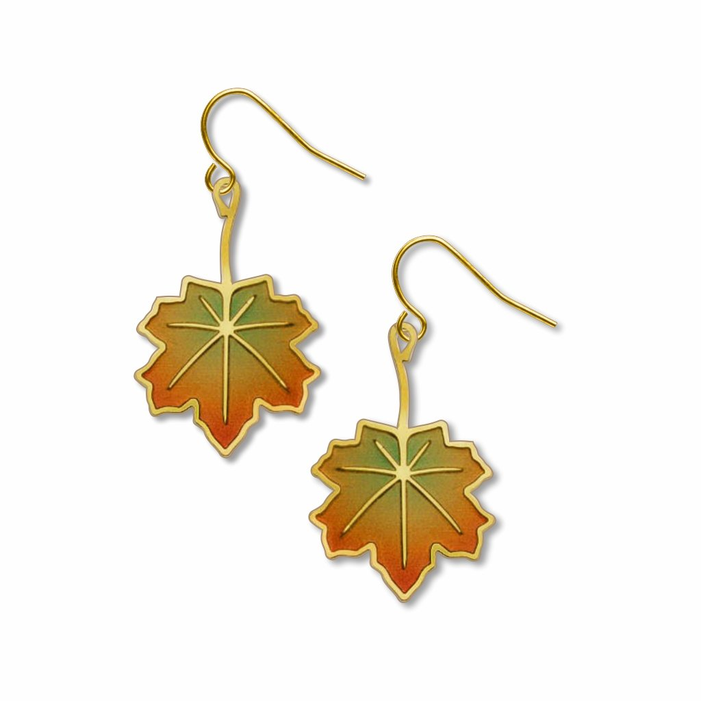 maple-leaf-giclee-print-earrings-photo