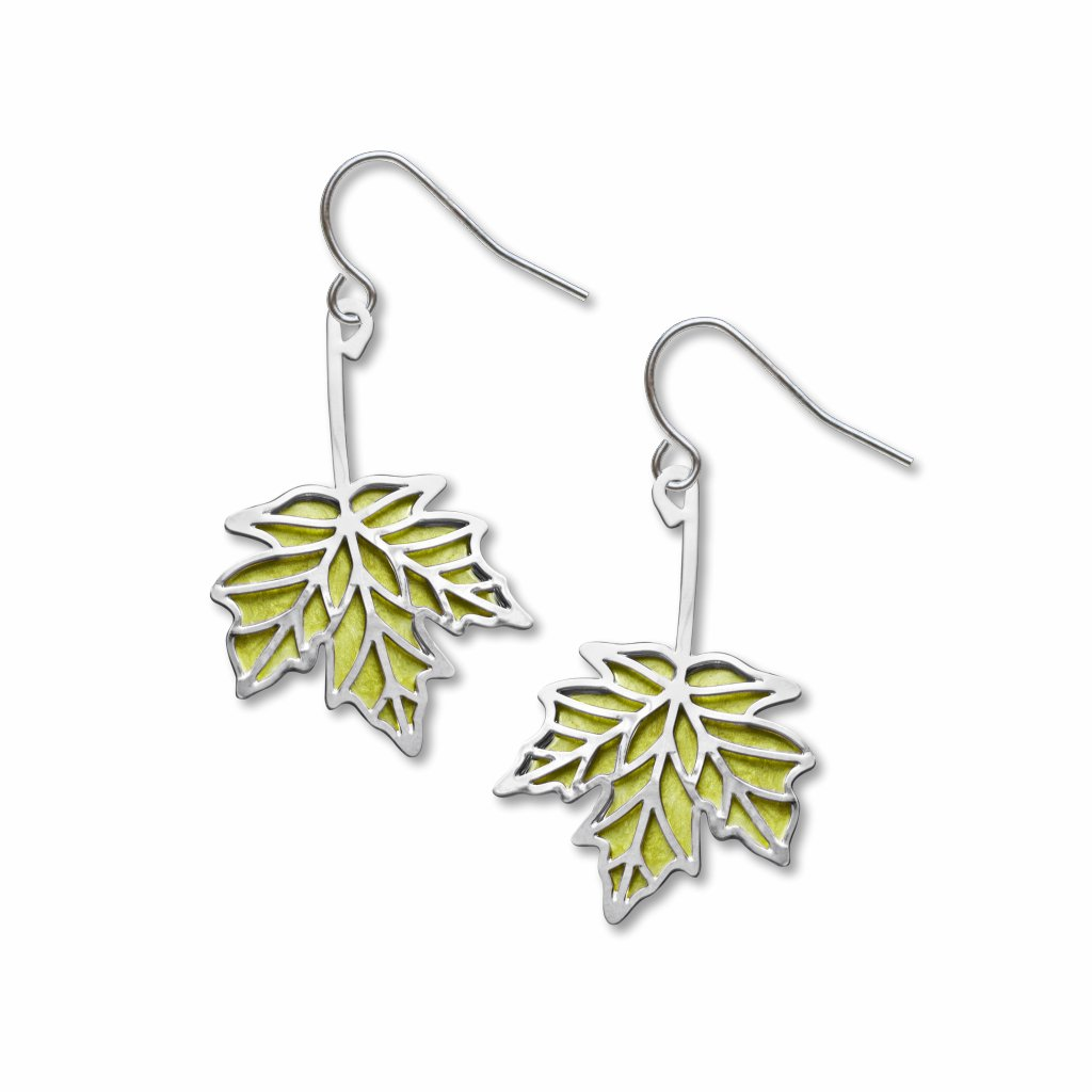 sugar-maple-spring-green-enamel-earrings-photo