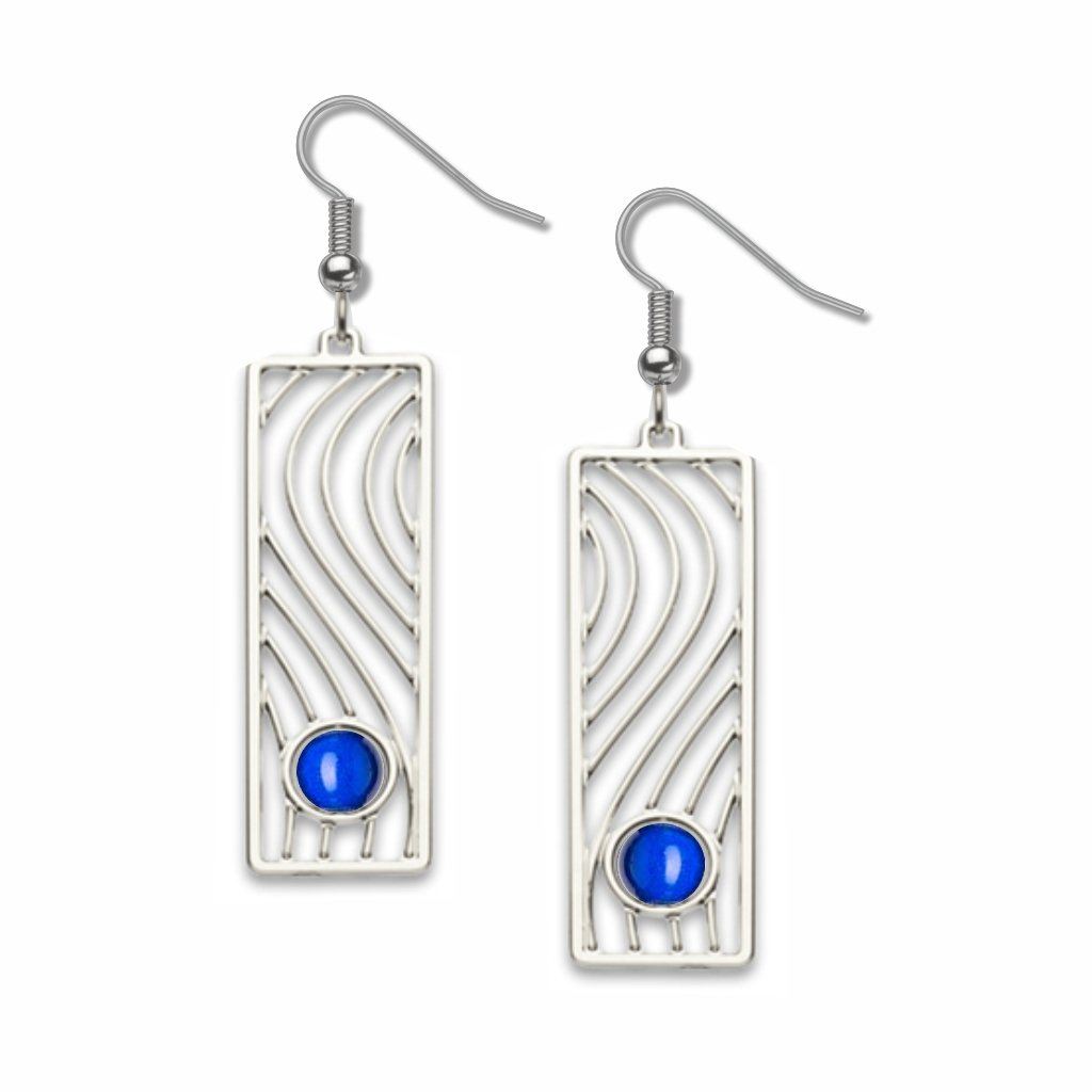 wall-drawing-cobalt-blue-bead-earrings-photo