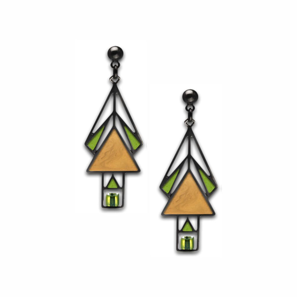 mahony-window-pale-green-bead-gold-enamel-spring-green-accent-earrings-photo