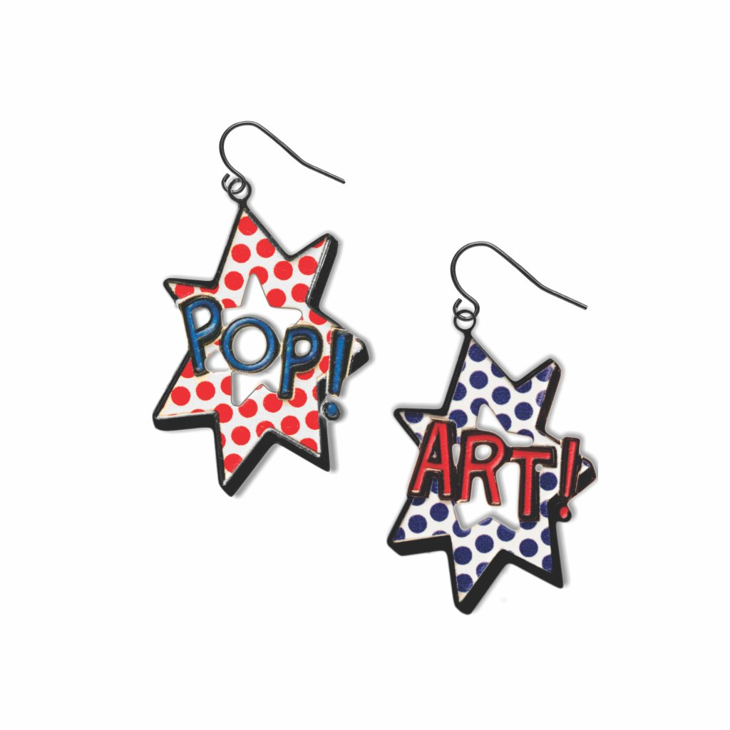 pop-art--red-accents-blue-accents-white-accent-earrings-photo