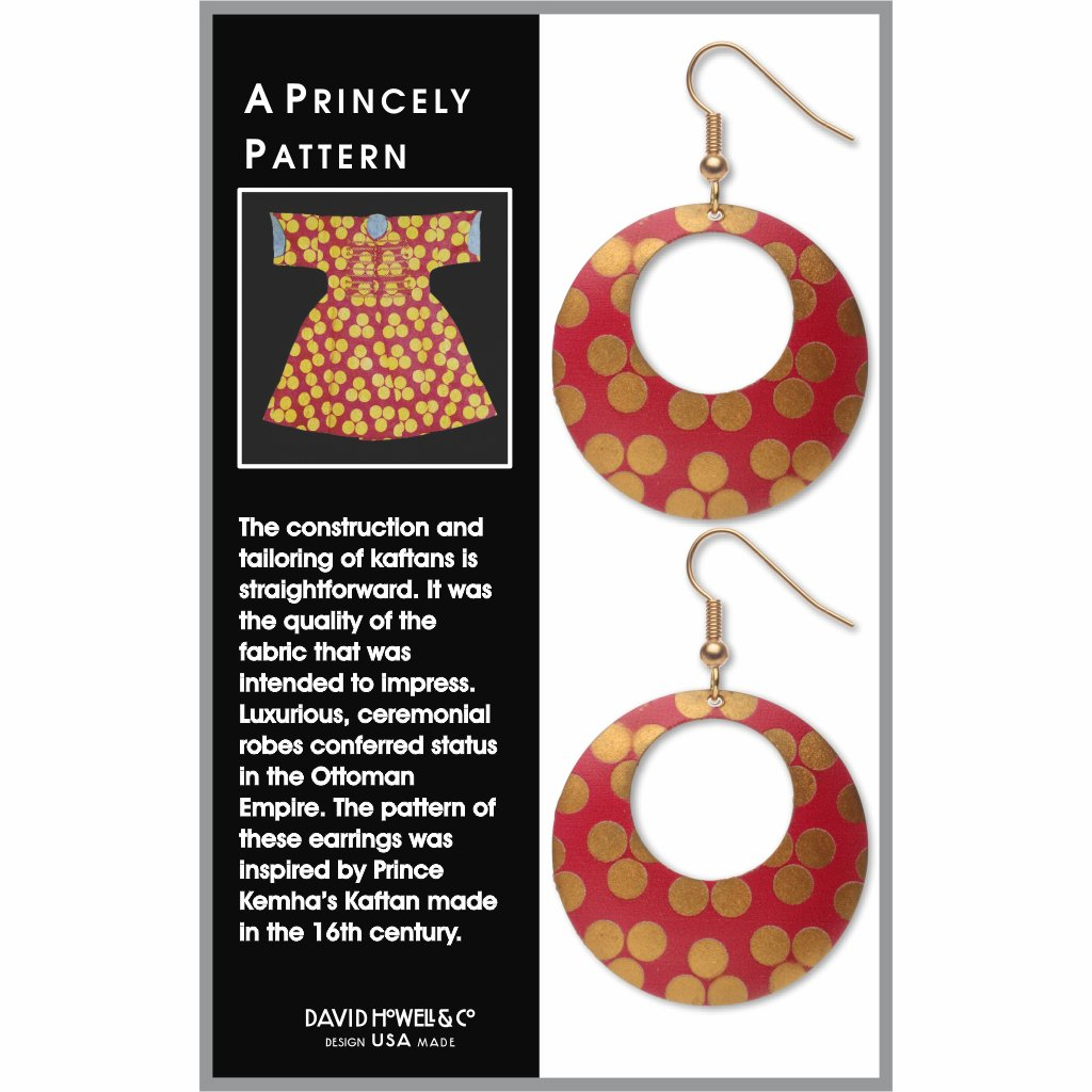 princely-pattern-giclee-print-faux-gilt-earrings-photo-2