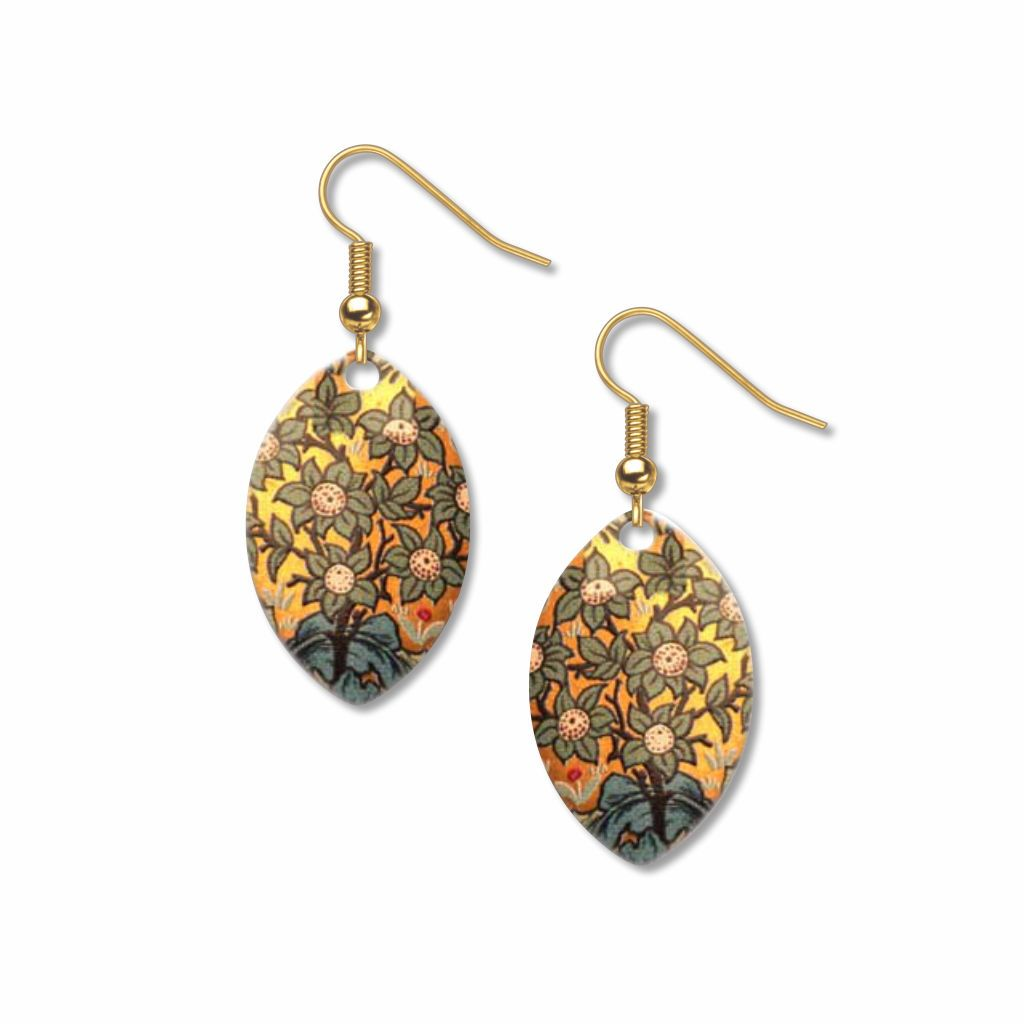 william-morris-orchard-pattern-giclee-print-faux-gilt-earrings-photo