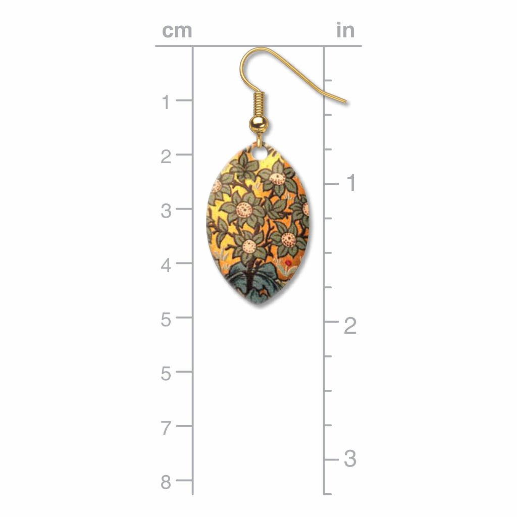 william-morris-orchard-pattern-giclee-print-faux-gilt-earrings-photo-3