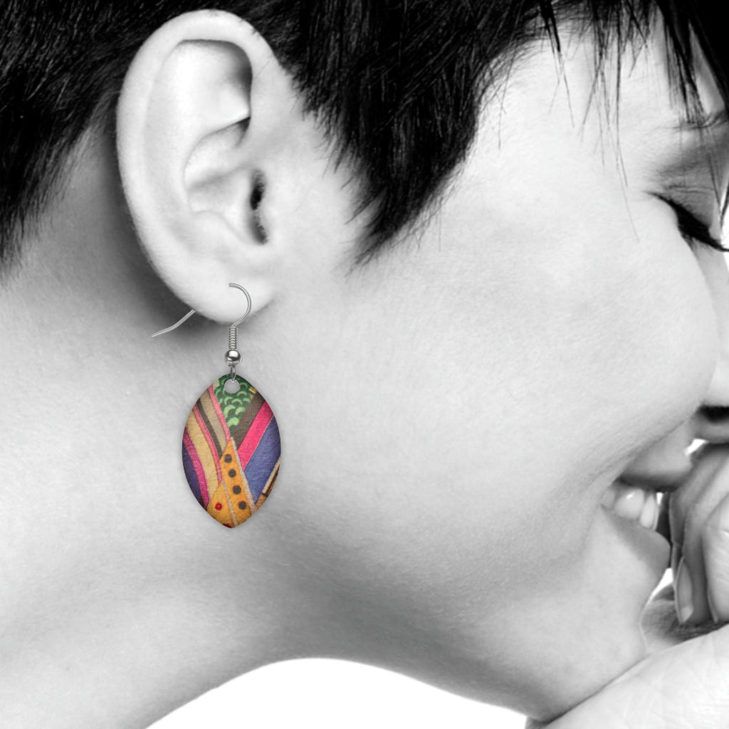 Vocal Music Abstract Earrings