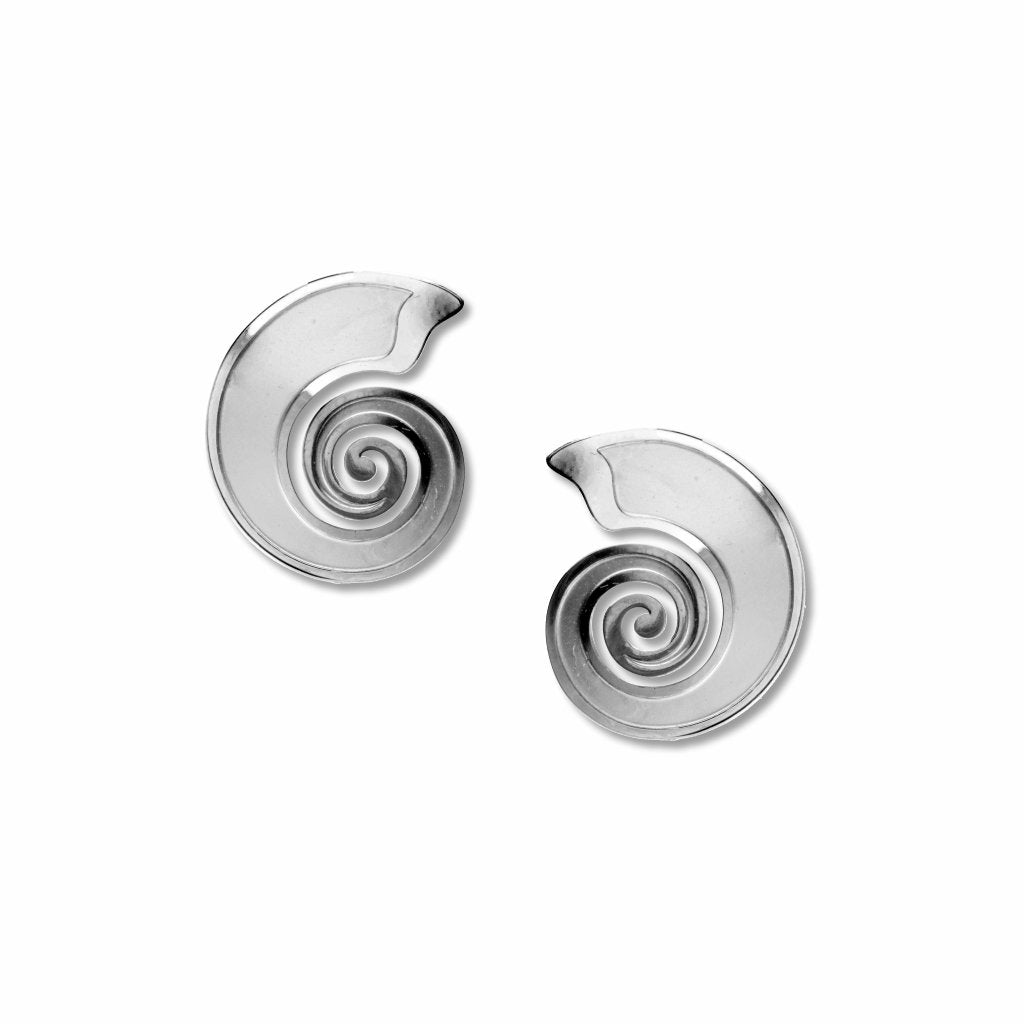 ammonite-shell-chrome-enamel-earrings-photo