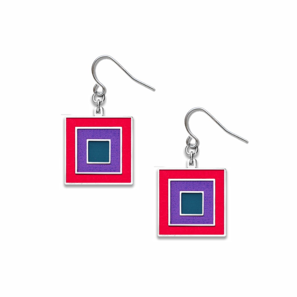 bauhaus-primaries-#3-red-accent-violet-accent-navy-accent-earrings-photo