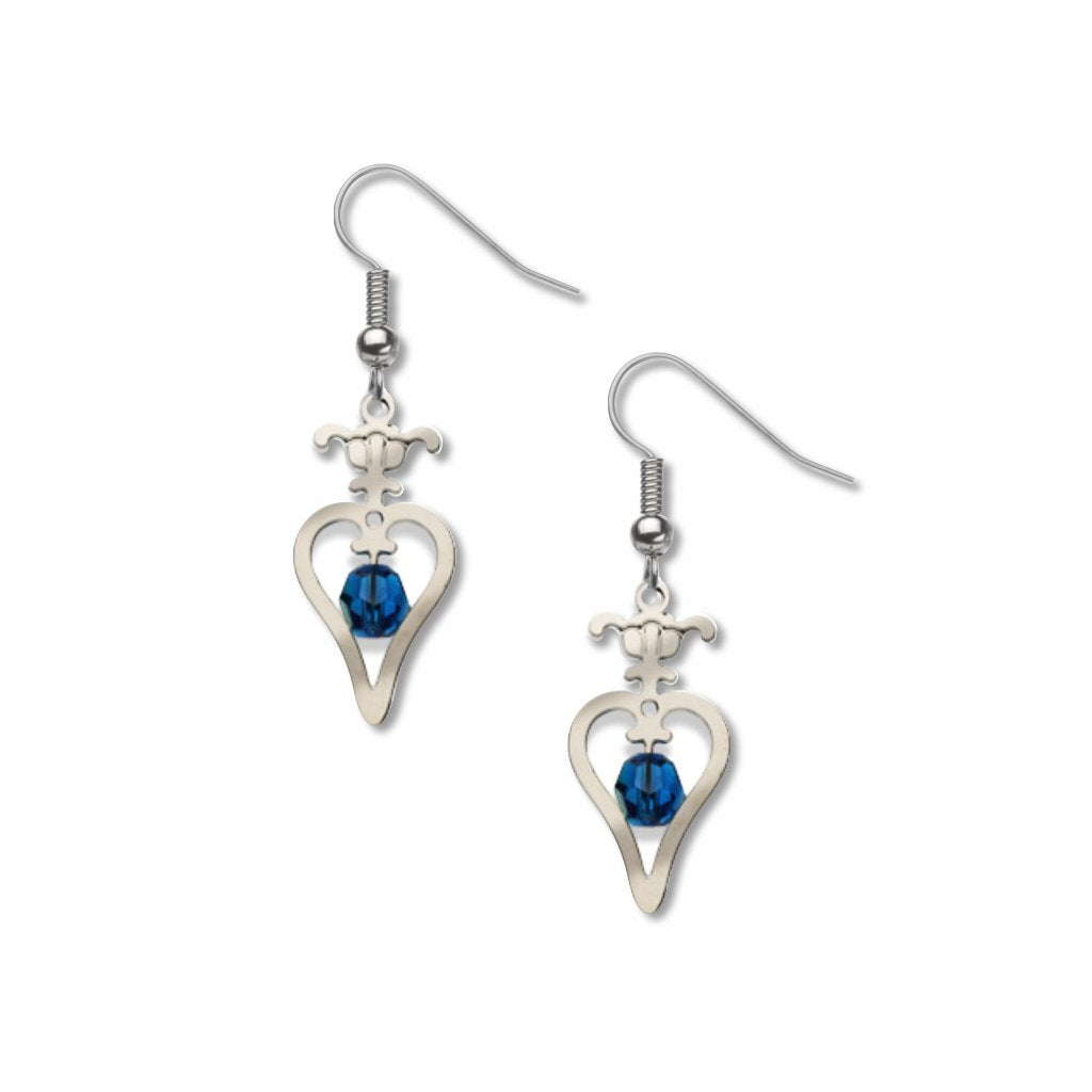 gibson-girl-hearts-sapphire-bead-earrings-photo