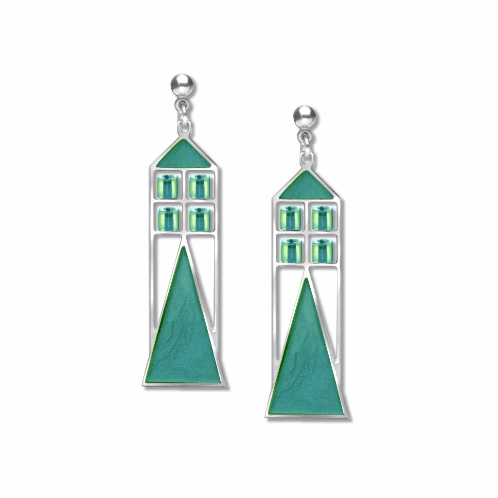 babson-window-sea-glass-bead-sea-glass-enamel-earrings-photo