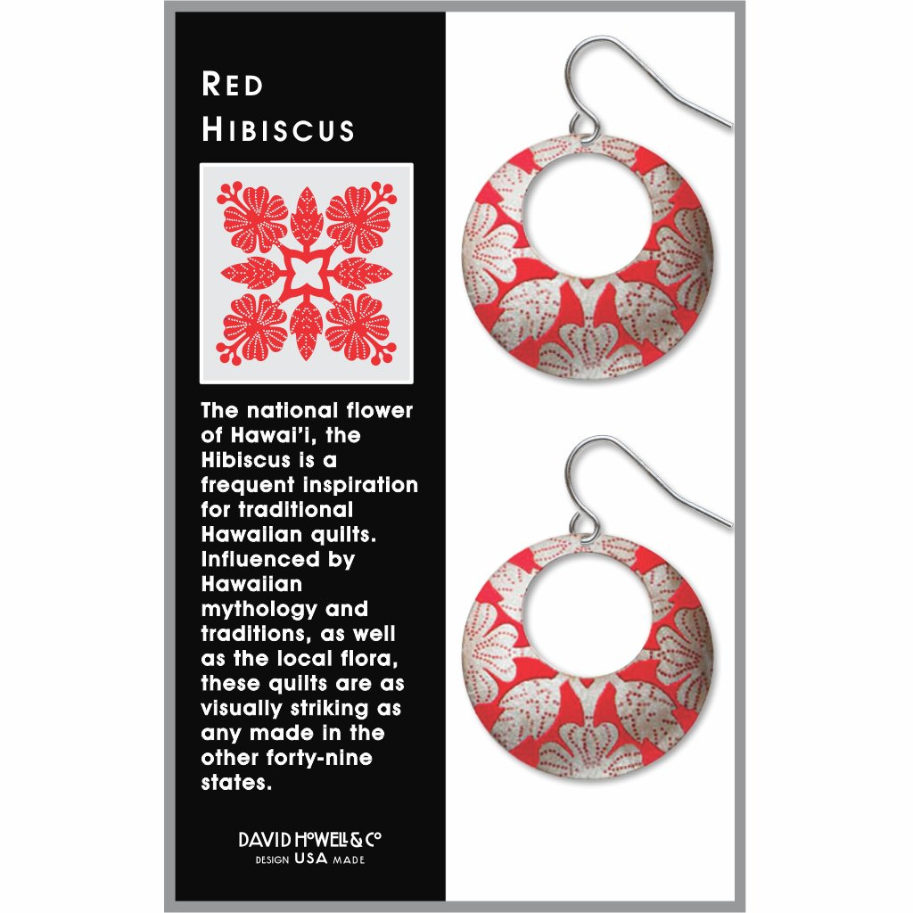 red-hibiscus-giclee-print-faux-gilt-earrings-photo-2