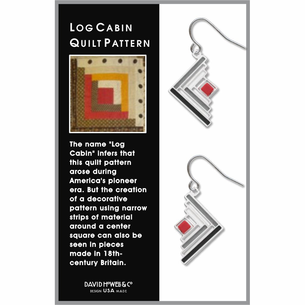 log-cabin-quilt-pattern-red-bead-grey-accent-black-accent-earrings-photo-2