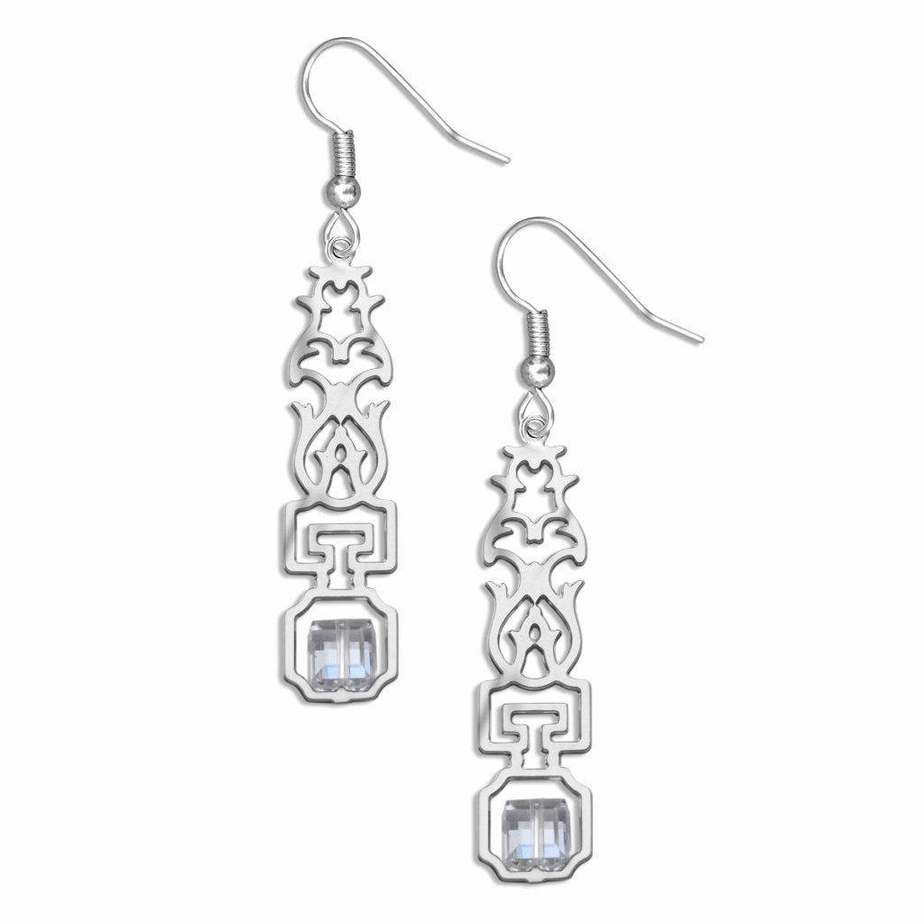 escutcheon--blue-crystal-earrings-photo