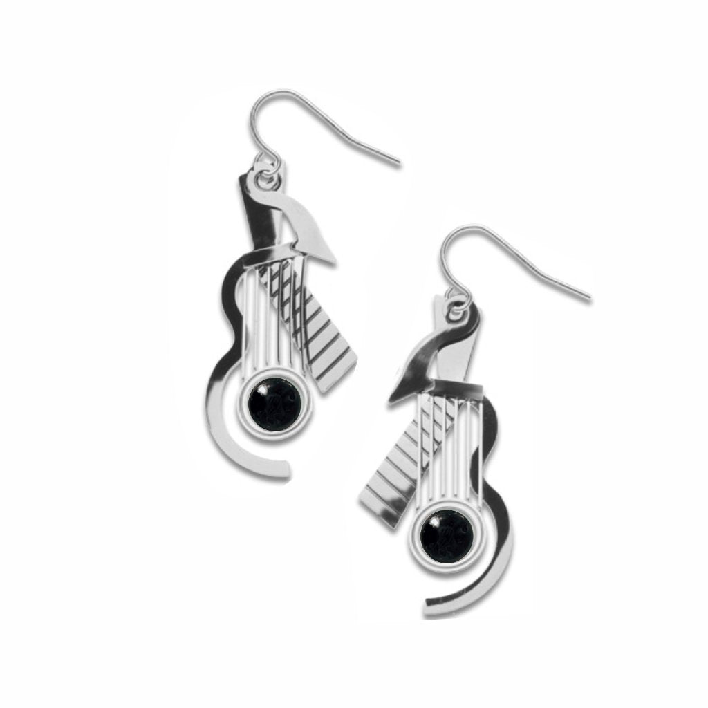 cubist-guitar-silver-black-bead-earrings-photo