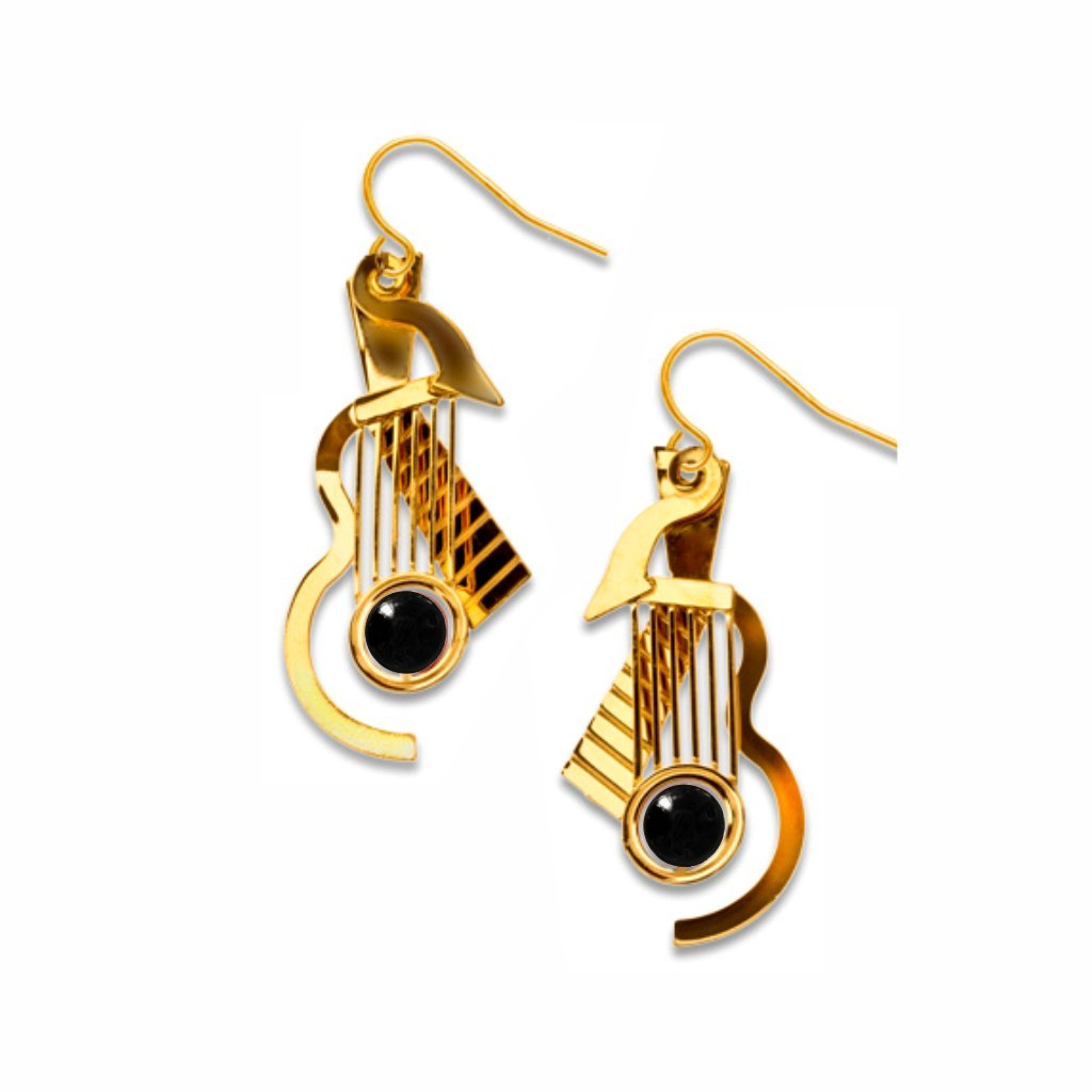 cubist-guitar-gold-black-bead-earrings-photo