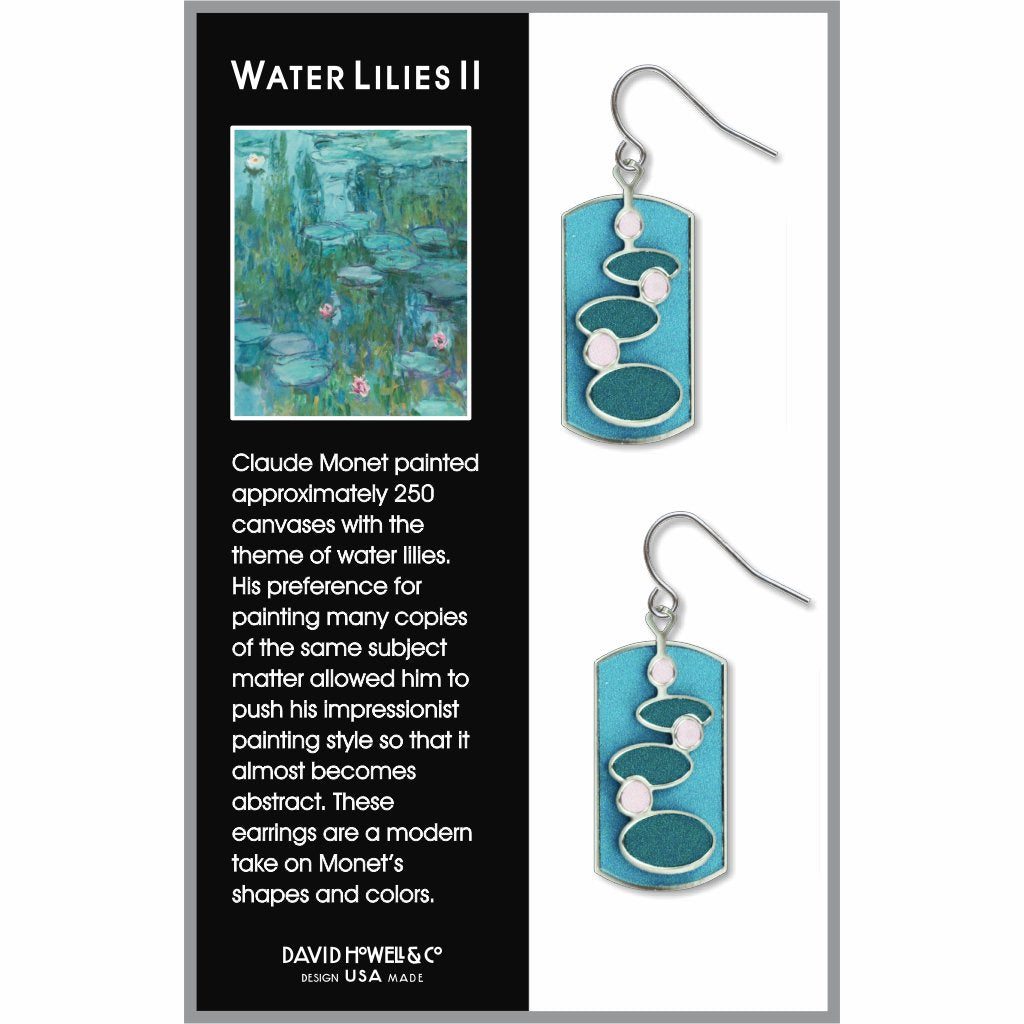 water-lilies-ii-light-giclee-print-earrings-photo-2