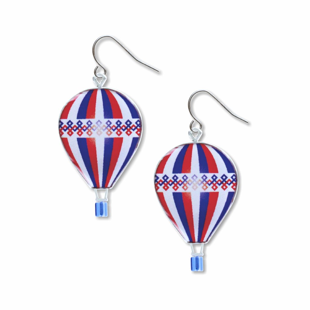 hot-air-balloons-giclee-print-domed-earrings-photo