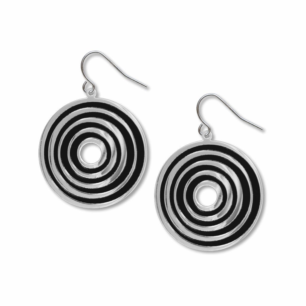op-art-target-black-accents-giclee-print-earrings-photo