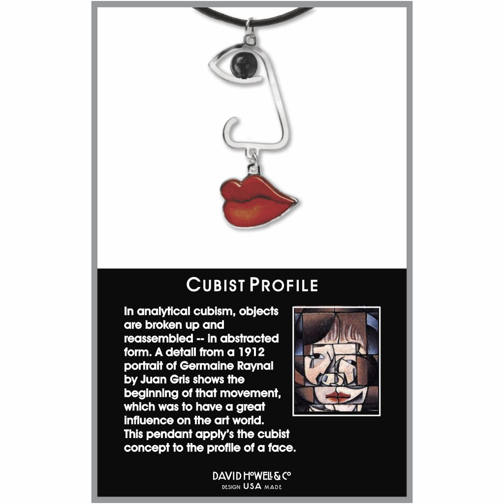 cubist-profile-black-bead-giclee-print-domed-pendant-photo-2