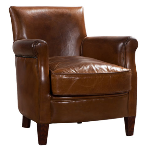 Alfie Vintage Distressed Leather Chair