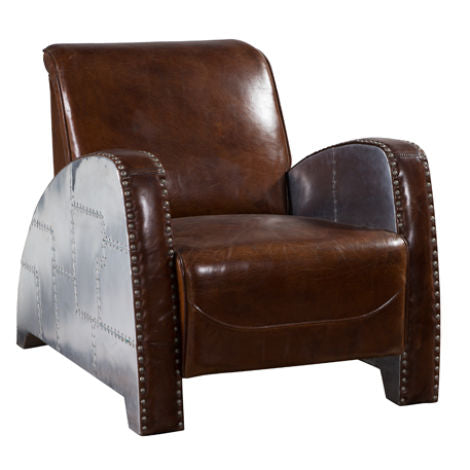 Aviator Horatio Vintage Distressed Leather Armchair