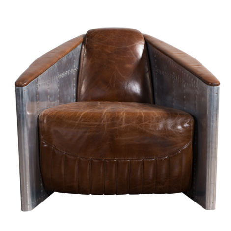 Aviator Tomcat Vintage Distressed Leather Armchair