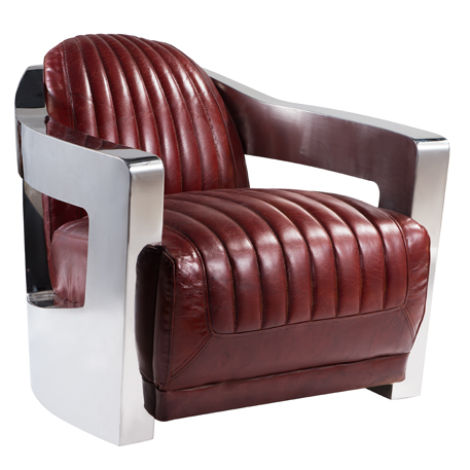 Aviator Luxury Vintage Retro Distressed Leather Armchair