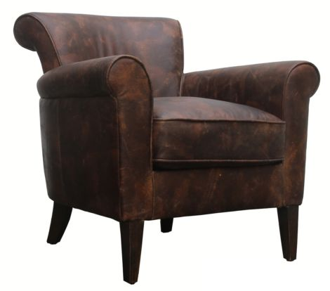 Bayswater Vintage Distressed Leather Armchair