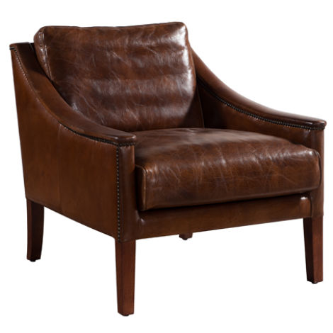 Belvedere Vintage Distressed Leather Chair